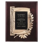 Antique Bronze Oak Leaf Plaque Achievement Awards